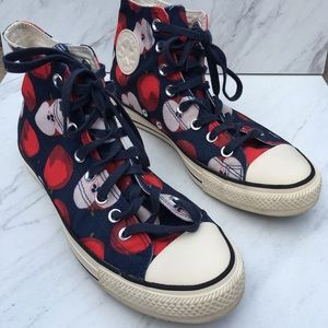 Converse All Star Apple Print High Sneakers